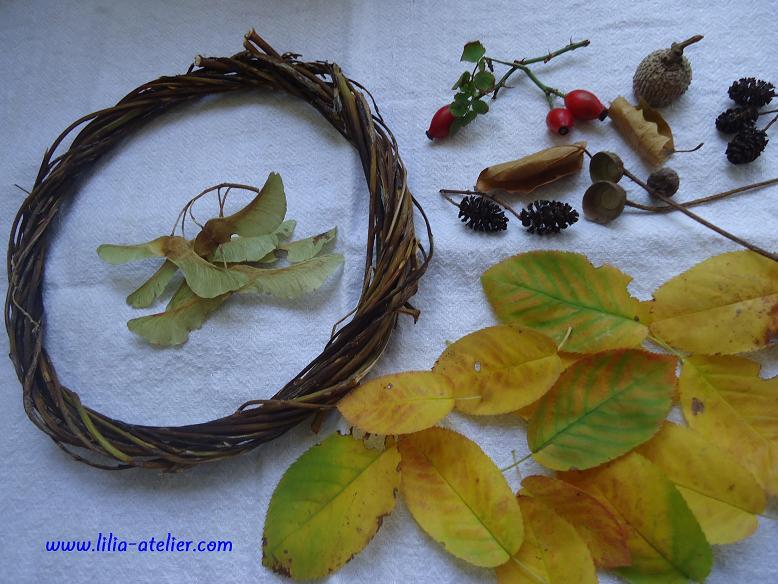 Венок из искусственных листьев своими руками 85