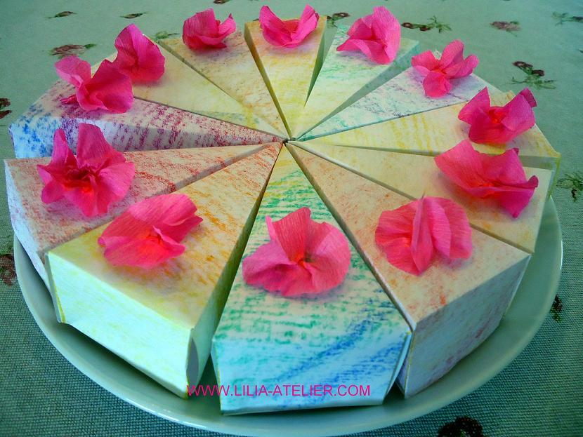 Торт из бумаги своими руками пошаговое